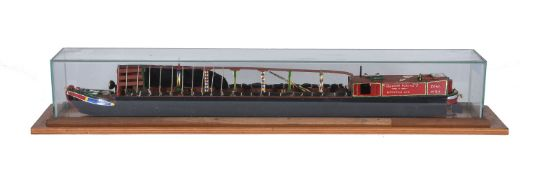 A model of a 'Fellows Morton and Clayton' traditional working narrow boat No. 311 'Zena'