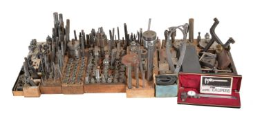 A selection of lathe and milling chucks