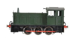 A gauge 1 Sancheng model of a 0-6-0 diesel locomotive