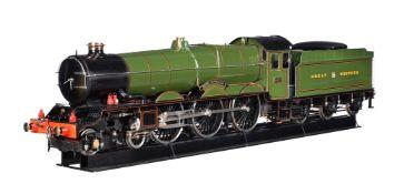 A 7 ¼ inch gauge model of a Great Western Railway King Class 4-6-0 tender locomotive No 6027 'King