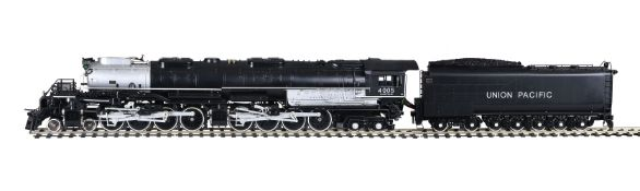 A gauge 1 model of an American 'Big Boy' 4-8-8-4 Union Pacific tender locomotive No 4005