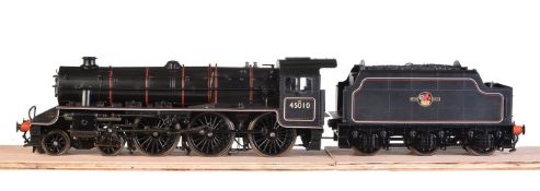 A gauge 1 model of a Class 5MT Stanier' Black 5' tender locomotive No 45010