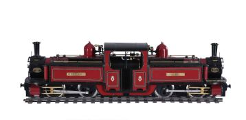 A gauge 1 model of a North Wales double ended 'Fairlie' Narrow gauge locomotive 'Merddin Emrys'