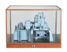 A fine quality boardroom model of a steam turbine engine