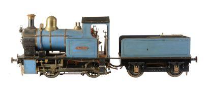 A model of a 5 inch gauge 0-4-0 tender locomotive 'Rhiannon'