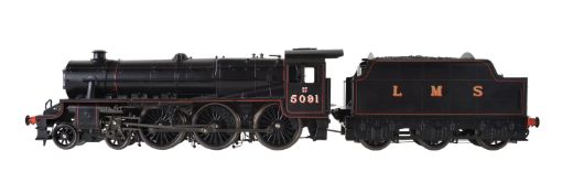 A gauge 1'Accucraft Trains' by BMMC model of a Class 5MT 'Stanier Black 5 tender locomotive No 5091