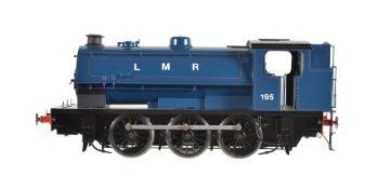 A gauge 1 Sancheng model of a 0-6-0 saddle tank locomotive. No 195