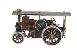 An unusual 1930's tinplate static model of a road locomotive