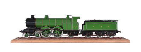 A 3 ½ inch gauge model of a 4-4-2 Atlantic tender locomotive No 4077 'The Queen of the Scots'