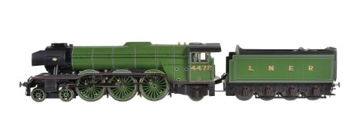 A gauge 1 'Accucraft Train's by BMMC model of a 4-6-2 tender locomotive No 4472 'Flying Scotsman'
