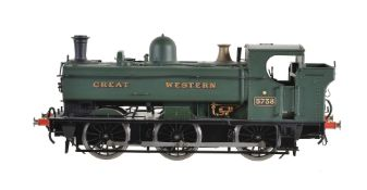 A gauge 1 Sancheng model of a 'Great Western' 0-6-0 pannier tank locomotive No 5738