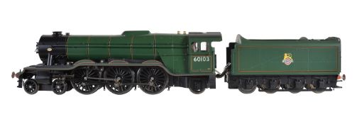 A gauge 1 'Accucraft Trains' by BMMC model of a British Railways 4-6-2 tender locomotive No 60103 Fl