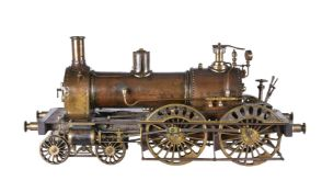 An Important large museum standard model of an 8 ¾ inch gauge 4-4-0 live steam coal fired locomotive