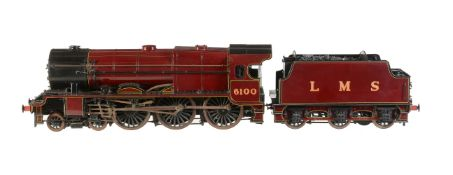 A 2 ½ inch gauge model of a London Midland and Scottish Railway 4-6-0 tender locomotive No 6100 'Roy