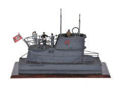 A model of a second world war 'U Boat' observation point
