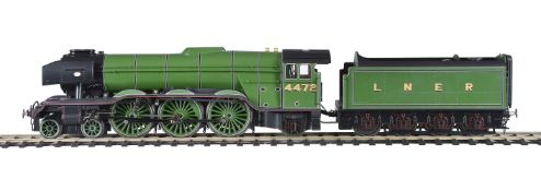 A gauge 1 model of a London North Eastern Railways 4-6-2 tender locomotive No 4472 'Flying Scotsman