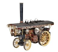 A 3 inch scale model of the compound Fowler Showmans engine 'Viscountess'