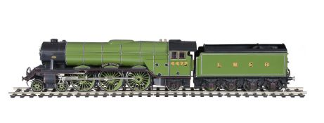 A gauge 1 model of a London North Eastern Railways 4-6-2 tender locomotive No 4472 'Flying Scotsma