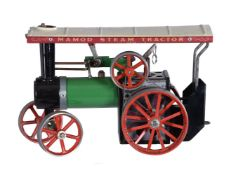 A Mamod model of a live steam traction engine