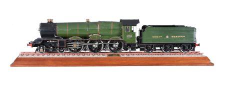 A 3 ½ inch gauge model of a locomotive and tender No 6001 'KING EDWARD VII'