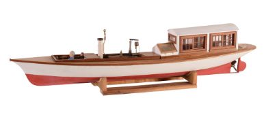 A quality model of a Windermere live steam Launch