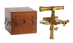 A French lacquered brass theodolite