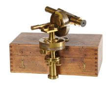 An unusual Continental lacquered brass theodolite