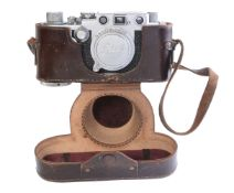 A Leica IIIF 'red dial' 35mm delayed action rangefinder camera