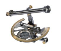 An oxidised and lacquered brass theodolite