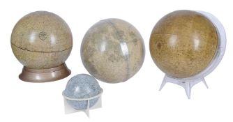 A group of four Lunar globes