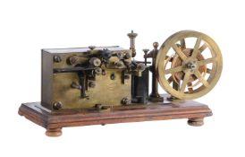 A rare French brass Morse code telegraphic ticker-tape