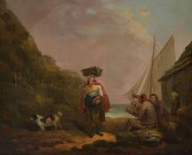 George Morland (British 1763-1804) The Fisherman's Toast Oil on canvas 46 x 56cm (18 x 22 in.)
