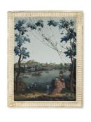 A Chinese Export reverse mirror Painting, Qing Dynasty, last quarter of the 18th century,