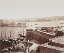 A composed set of five commercial sepia photographs of Malta