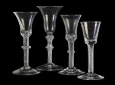 Four assorted airtwist wine glasses