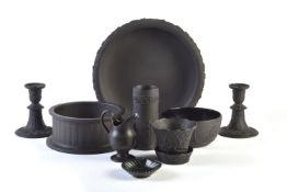 A selection of Wedgwood black basalt