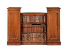 A Victorian mahogany open bookcase