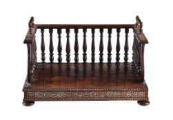 ϒ A George IV rosewood and mother-of-pearl inlaid book stand