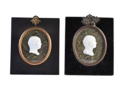 James Tassie (Scottish 1735-1799), a white glass paste portrait relief bust of Earl Howe