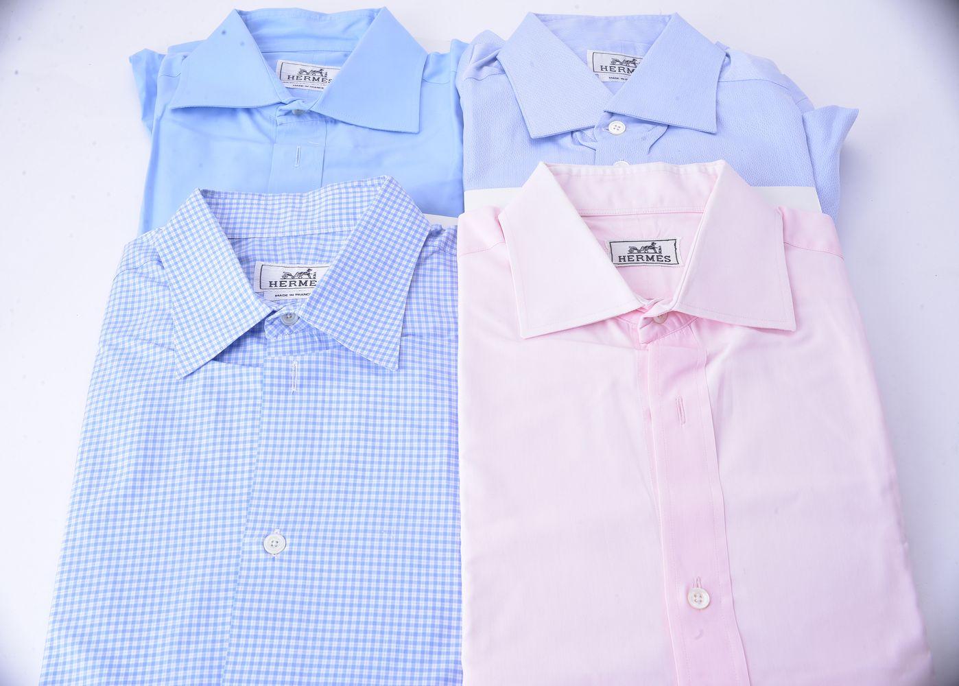 Lot 1105 - Hermes, four cotton shirts