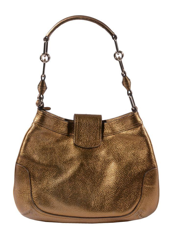 Lot 1065 - Anya Hindmarch, a bronze pebble leather handbag