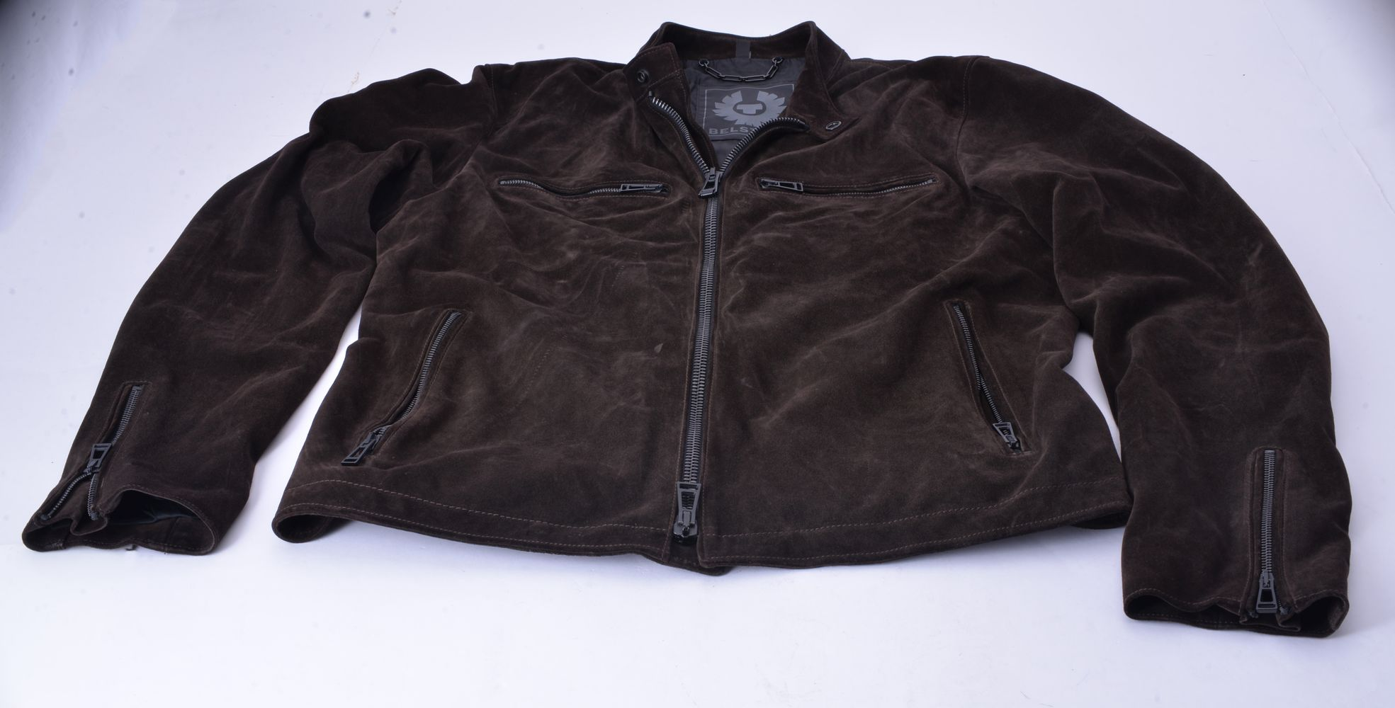 Lot 1110 - Belstaff, a brown suede jacket