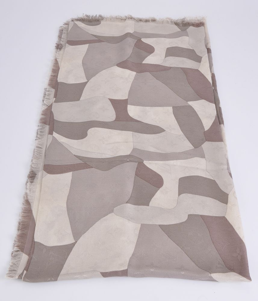 Lot 1076 - Louis Vuitton, a silk and wool scarf