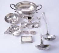 A small collection of silver
