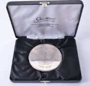 A silver circular powder compact by Deakin & Francis