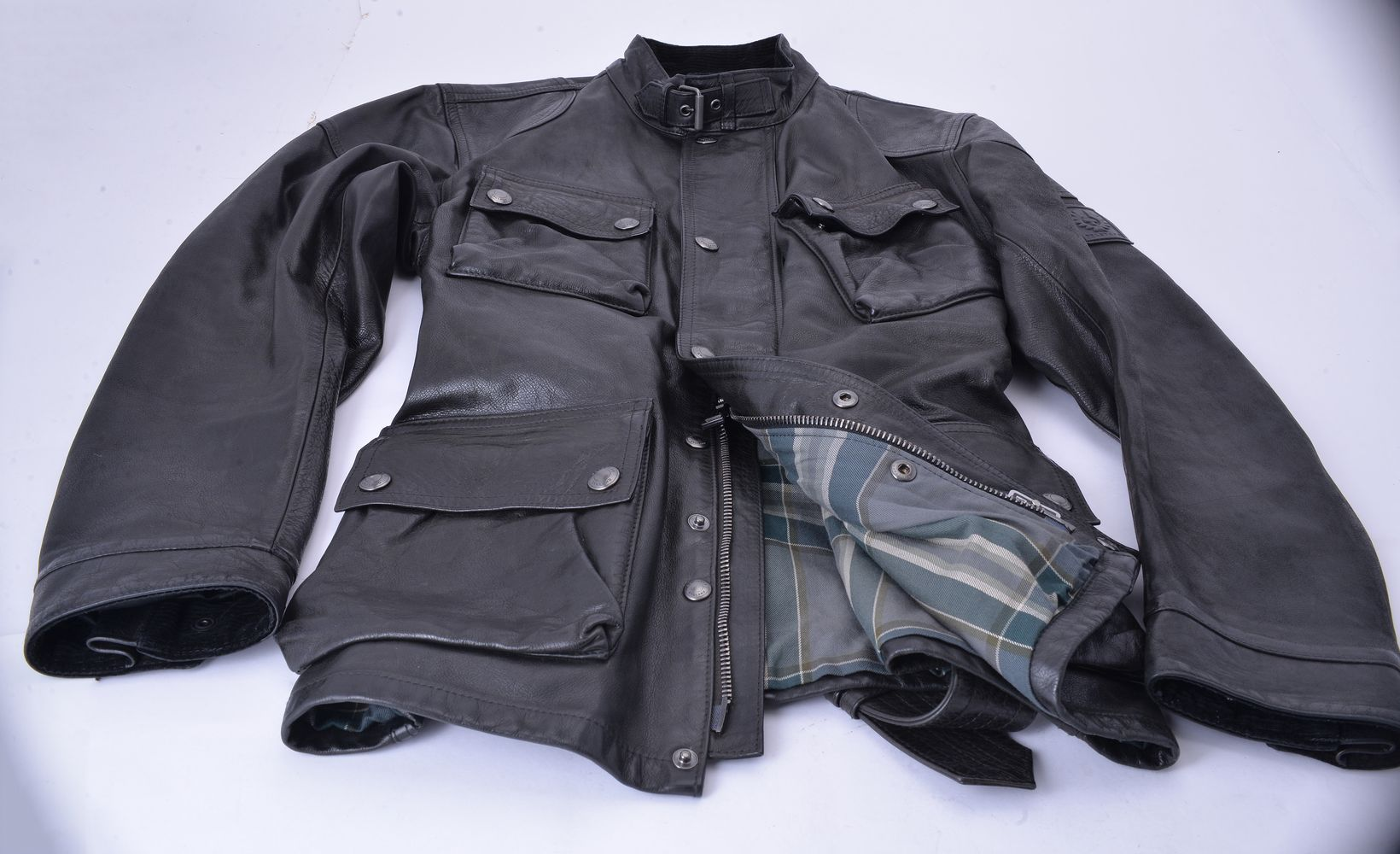 Lot 1108 - Belstaff, Panther 1966, a black leather jacket