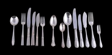 A set of ten silver King's pattern dessert spoons by William Yates Ltd
