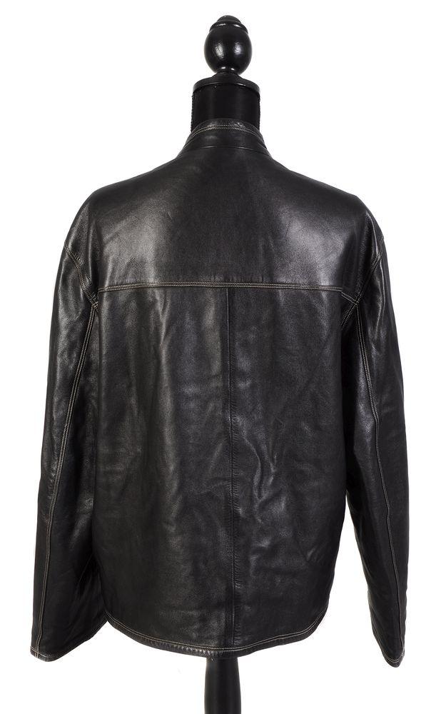 Lot 1109 - Hermes, a black leather jacket
