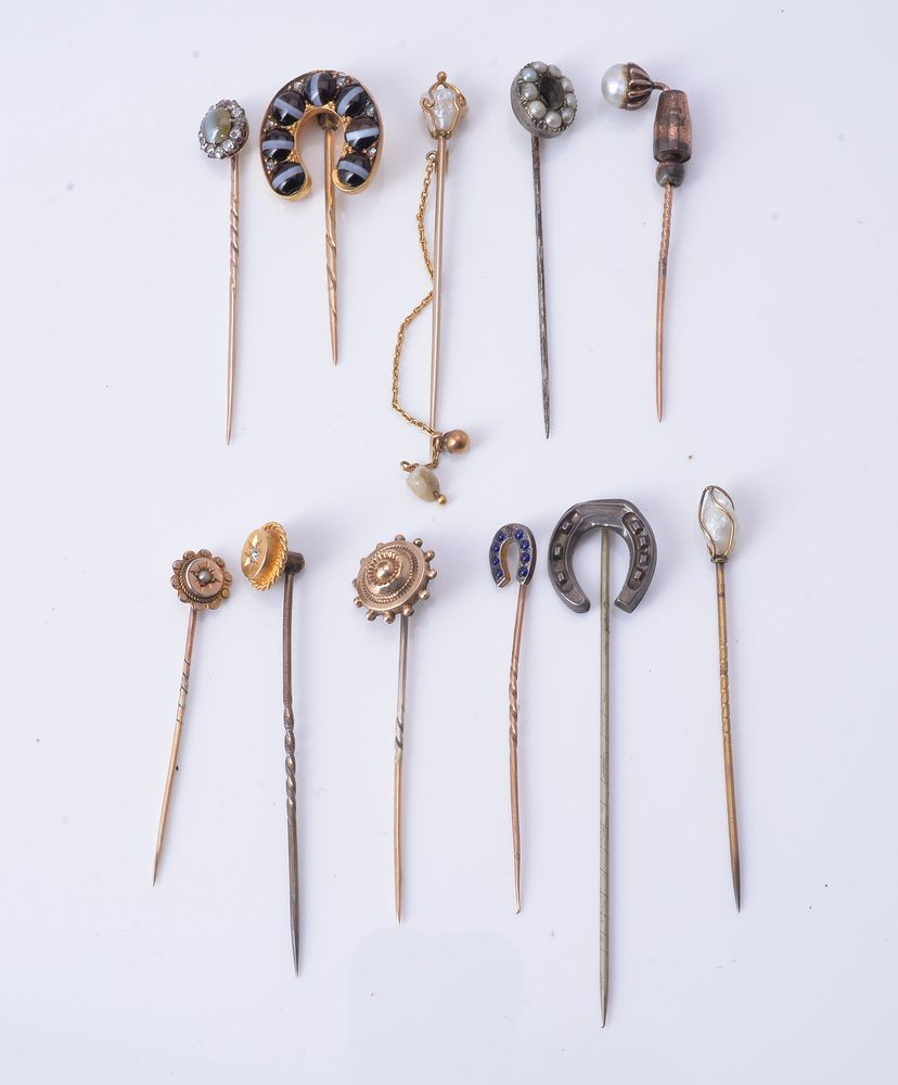 Lot 858 - A group of stick pins