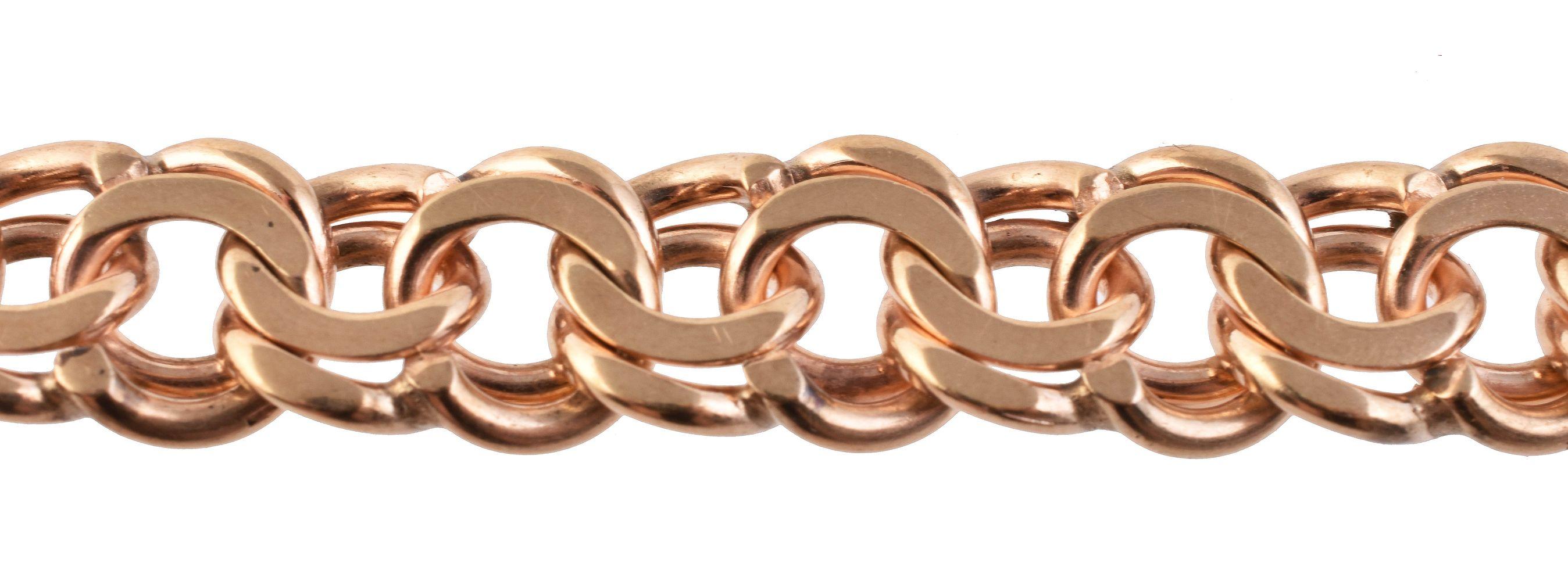 Lot 837 - A 9 carat gold bracelet and fob seal